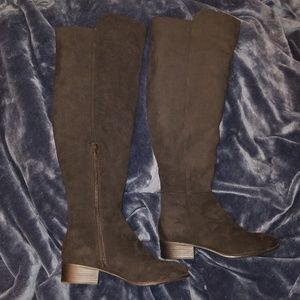 Marc Fisher Alana faux suede over the knee boots